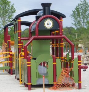 The locomotive that is also an activity area.