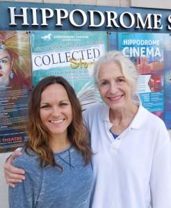 Juliana Davis, left, and Sara Morsey in front of the Hippodrome.