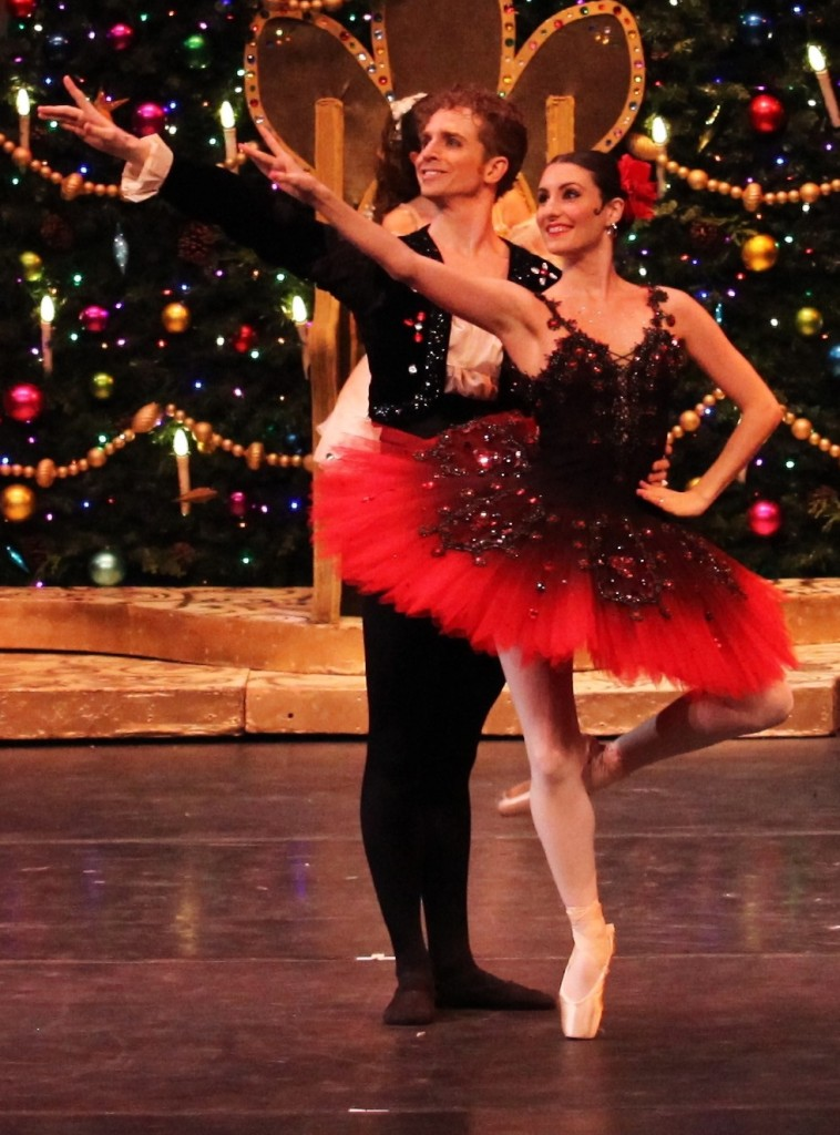 The couple performs during The Nutcracker.
