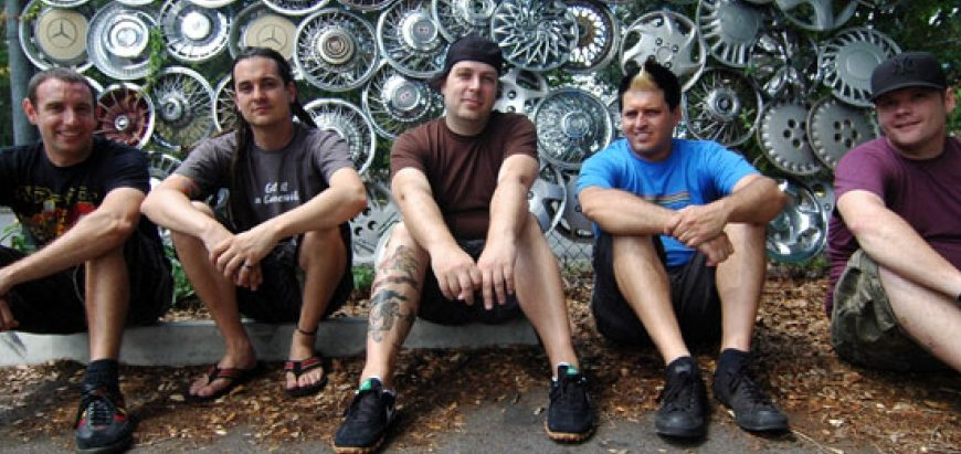 Less Than Jake relaxes at a hometown hangout, Satchels Pizza.