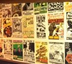 High Dive's vintage poster wall.