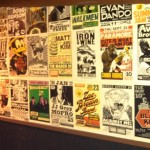 The vintage poster wall at High Dive.