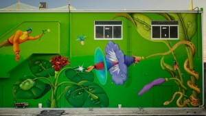 An example of the mural work done by Interesni Kazki.