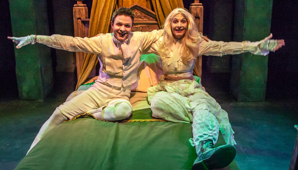 """Niall McGinty and Sara Morsey in the Hippodrome's """"A Christmas Carol."""""""