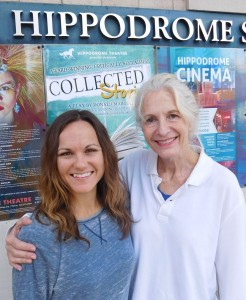 Juliana Davis, left, and Sara Morsey in front of the Hippodrome.