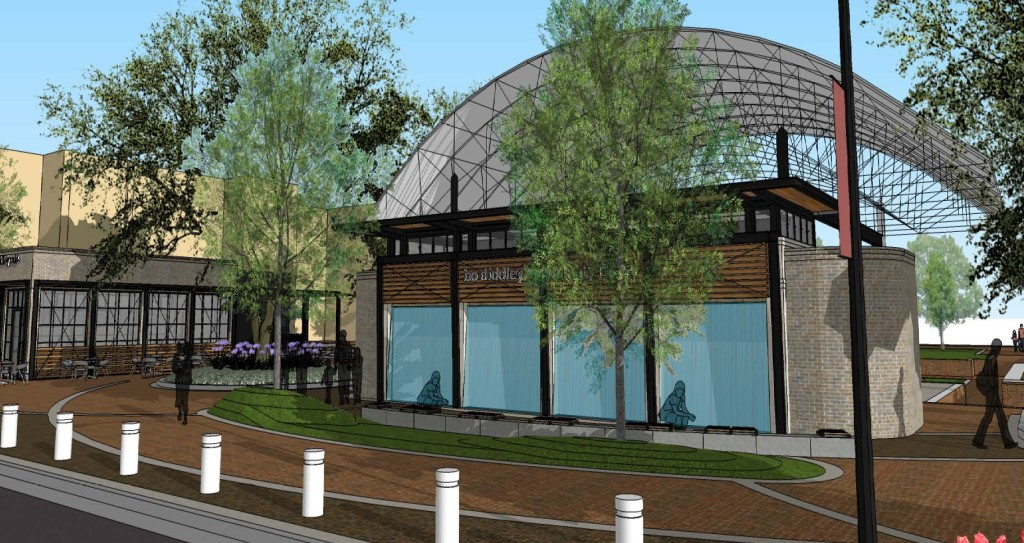 "An artists rendering of the new ""front porch"" of the Bo Diddley Plaza."