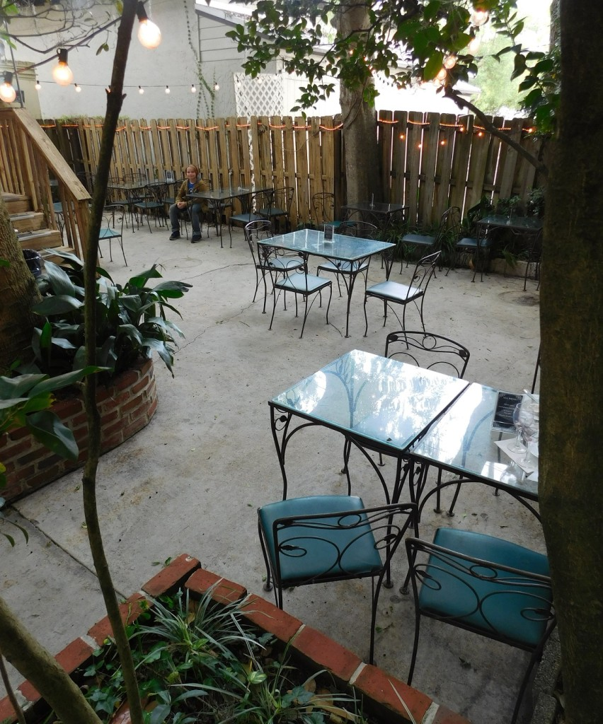 The back patio at Downtown Wine Cheese might include live jazz at some point.