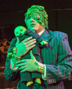 James Gish as Toxie, who is a proud new papa in The Toxic Avenger. Photo by Michael A. Eaddy)