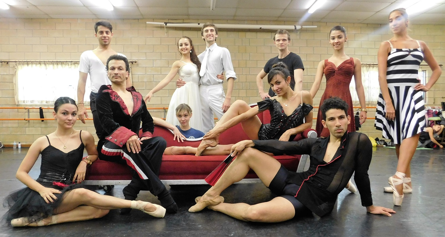 Many members of the Dance Alive National Ballet company at Pofahl Studios. (Photo by Gainesville downtown)