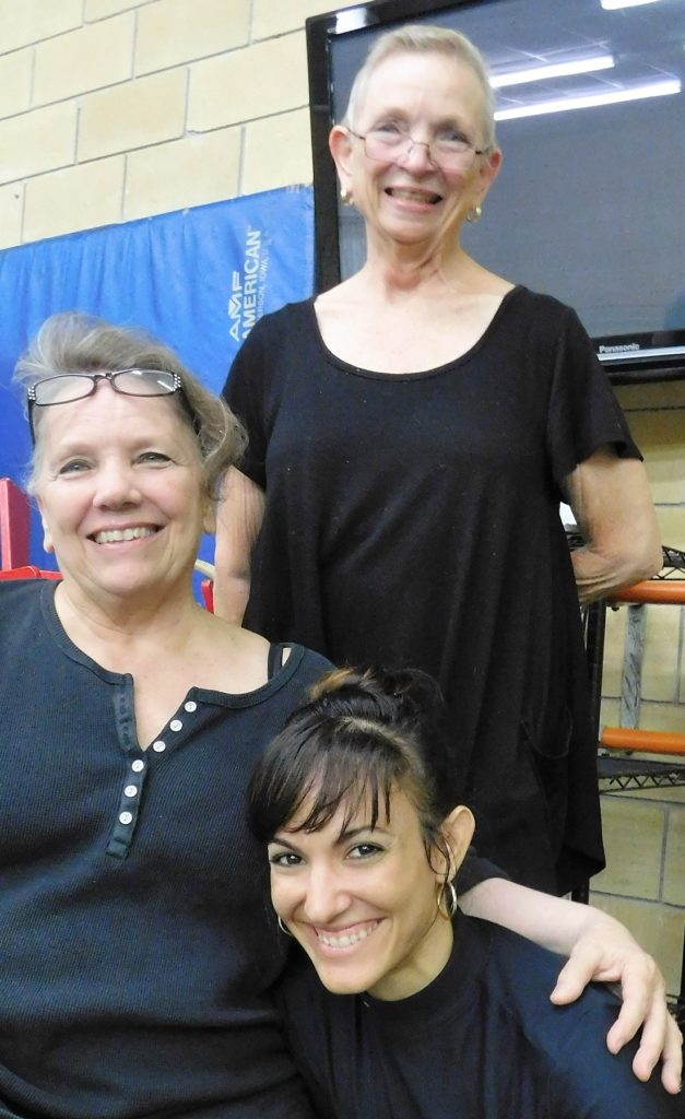 Kim Tuttle, left, Judy Skinner and principal dancer Jessie Dominguez.