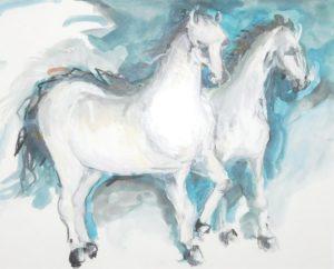 Horses II, by Nava Ottenberg